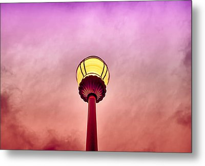 Streetlight And Clouds Metal Print by J Riley Johnson