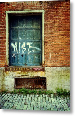 Strip District Doorway Number 1 Metal Print by Amy Cicconi
