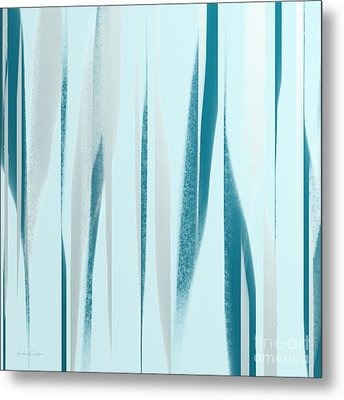 Stripes 9 Abstract Square Metal Print by Andee Design