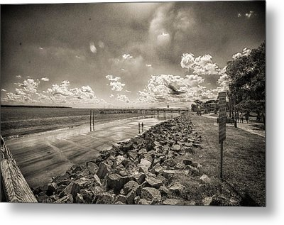 Stroll On The Beach Metal Print by J Riley Johnson