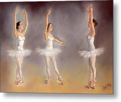 Studies Of A Ballet Dancer Metal Print by Margaret Merry