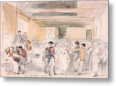Study For Penny Wedding, 1817 Metal Print by Sir David Wilkie
