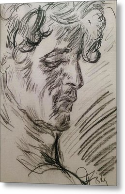 Study Of Richard Metal Print by Dawn Fisher