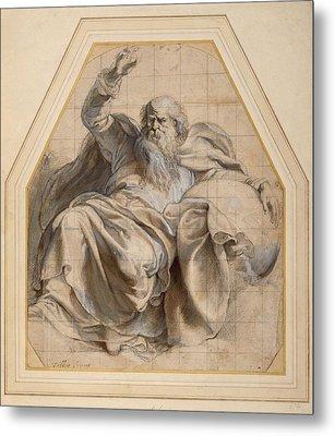 Study Of Zacchariah Metal Print by Peter Paul Rubens