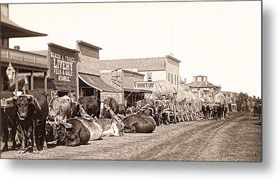 Sturgis South Dakota C. 1890 Metal Print by Daniel Hagerman