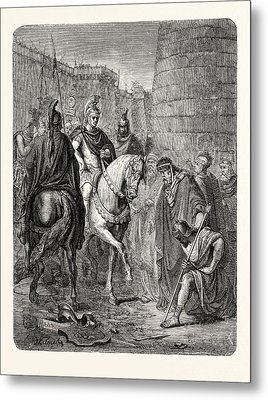 Submission Of The Vanquished To The Victor Metal Print by English School