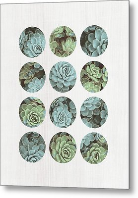 Succulent Dots Metal Print by Tammy Apple
