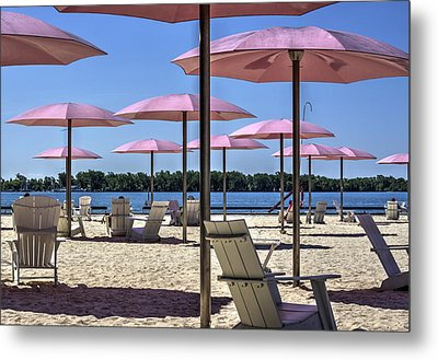 Sugar Beach Summer Metal Print by Nicky Jameson