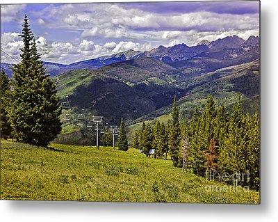 Summer Lifts - Vail Metal Print