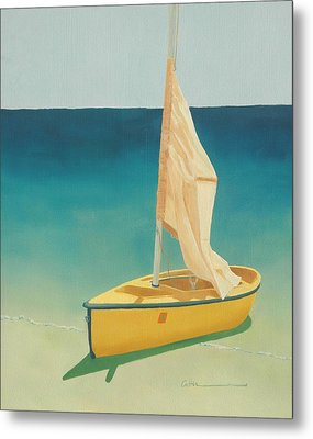 Summer's Boat Metal Print by Diane Cutter