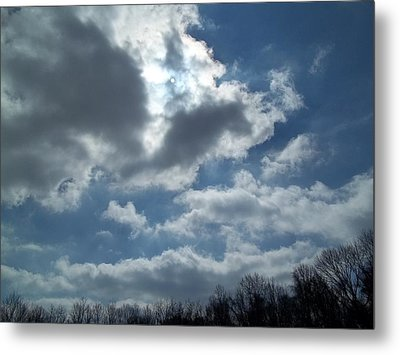 Metal Print featuring the photograph Sun Almost by Eric Switzer