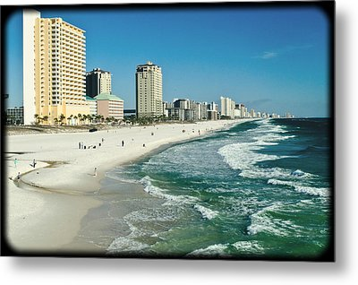 Sun Surf Sand And Condos Metal Print