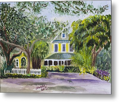 Sundy House In Delray Beach Metal Print by Donna Walsh