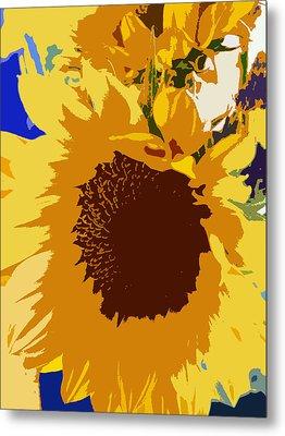 Sunflower Pop Metal Print by Colleen Kammerer