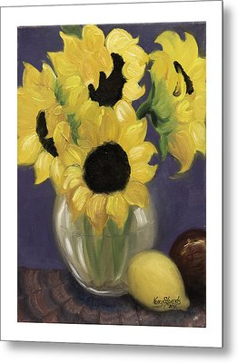 Sunflowers Metal Print by Nancy Edwards