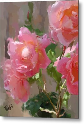 Sunny Roses Metal Print by Jim Pavelle