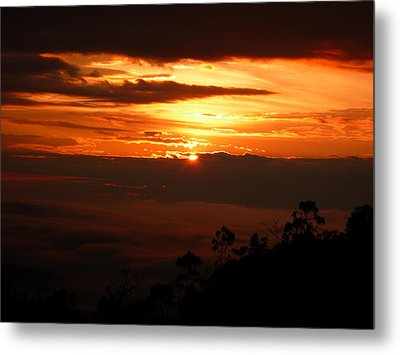 Sunrise Above The Clouds Metal Print by Evan Hendrickson
