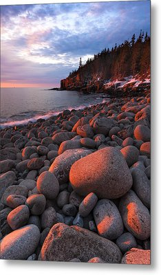 Sunrise At Otter Cliffs Metal Print by Patrick Downey