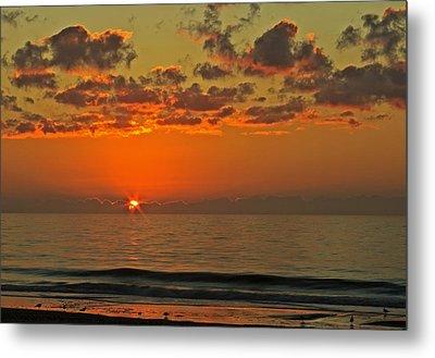 Sunrise At The Beach V Metal Print
