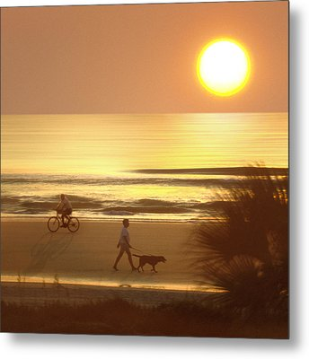 Sunrise At Topsail Island 2 Metal Print by Mike McGlothlen