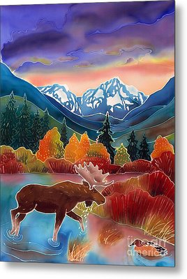 Sunrise At Two Medicine Lake Metal Print by Harriet Peck Taylor