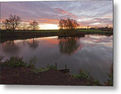 Sunrise Lenton Fishing Pond Metal Print