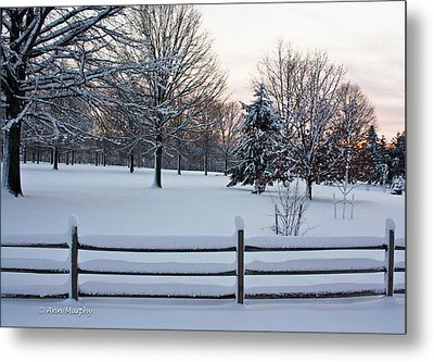 Metal Print featuring the photograph Sunrise On A Snowy Morning by Ann Murphy