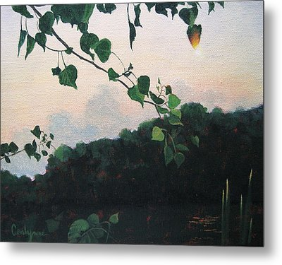 Sunrise On The Lake Metal Print by Carlynne Hershberger