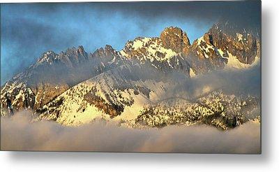 Sunrise On Thompson Peak Metal Print by Ed  Riche
