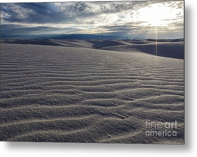 Sunset 3 - White Sands Metal Print by Scotts Scapes