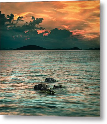 Sunset Metal Print by Akos Kozari