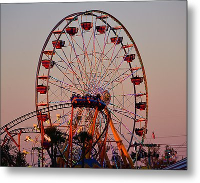 Sunset At The Fair Metal Print by David Lee Thompson