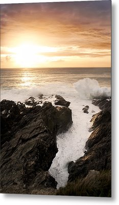 Sunset In Newquay Metal Print by Francesco Emanuele Carucci