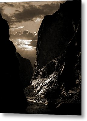 Sunset In The Royal Gorge, Col, Jackson, William Henry Metal Print by Litz Collection