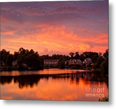 Metal Print featuring the photograph Sunset Lake by Dale Nelson