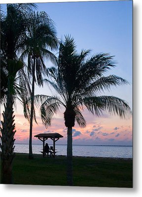 Metal Print featuring the photograph Sunset Lovers by Judy  Johnson