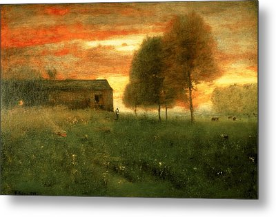 Sunset, Montclair, 1892 Metal Print by George Snr. Inness