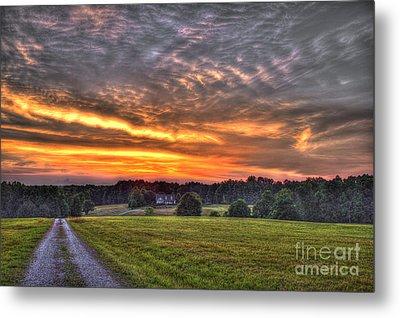 Take Me Home Sunset On Lick Skillet Road  Metal Print by Reid Callaway
