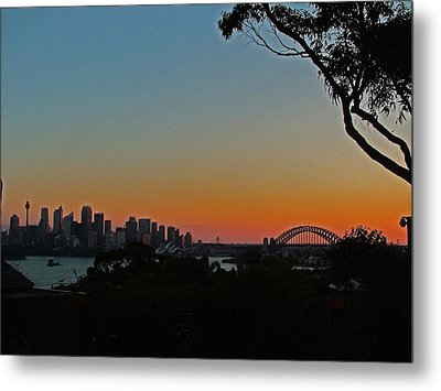 Sunset On Sydney Harbour  Metal Print by Ankya Klay