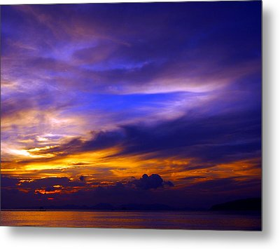 Sunset Over Sea Metal Print by Kaleidoscopik Photography