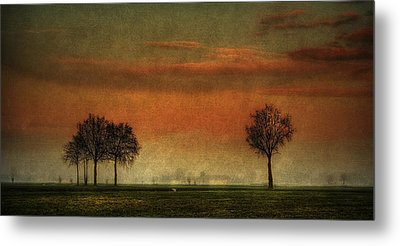 Sunset Over The Country Metal Print
