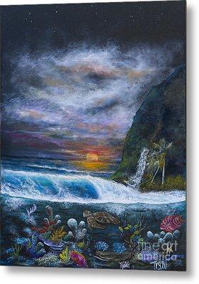 Sunset Reef Metal Print by John Garland  Tyson