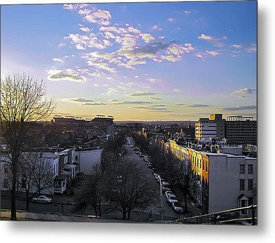 Metal Print featuring the photograph Sunset Row Homes by Brian Wallace