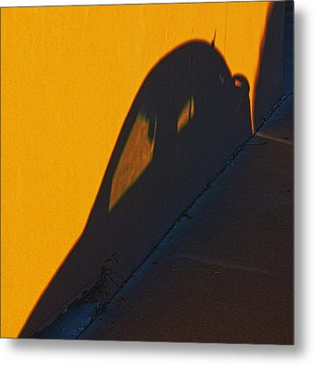 Metal Print featuring the photograph Sunset Shadow Car by John Hansen