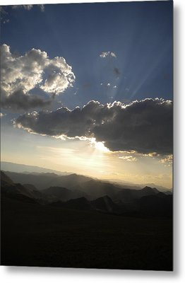 Sunset Skies Over The Andes Metal Print