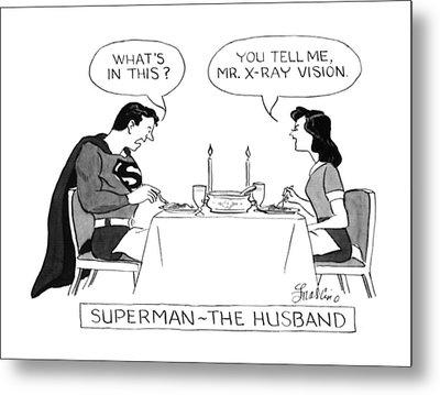 Superman - The Husband Metal Print