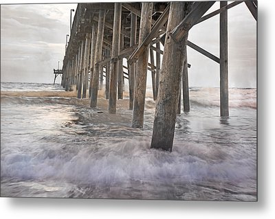 Surf City Ocean Pier Metal Print