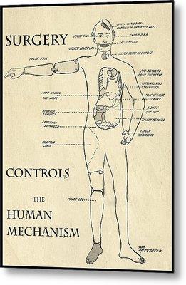 Surgery Controls The Human Mechanism   1906 Metal Print by Daniel Hagerman