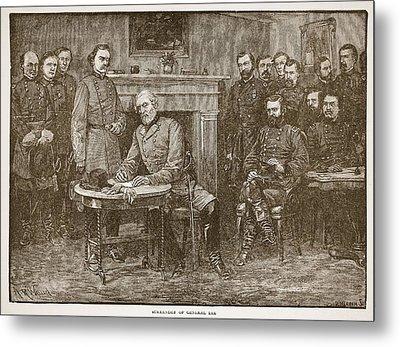 Surrender Of General Lee Metal Print