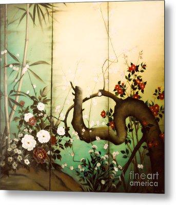 Sunshine In The Garden Metal Print by Sorin Apostolescu